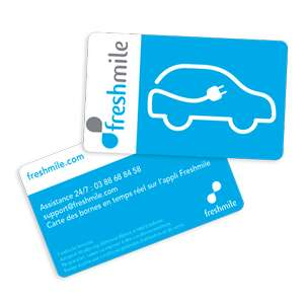 Carte Pass Freshmile gratuite pour borne de recharge véhicules électriques