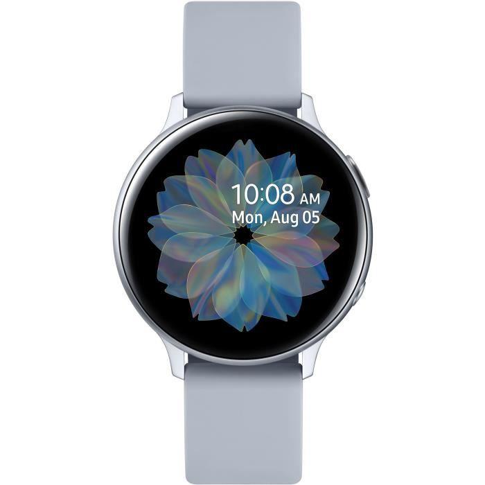 Montre connectée Samsung Galaxy Watch Active 2 Aluminium - Bluetooth, 44 mm, Gris
