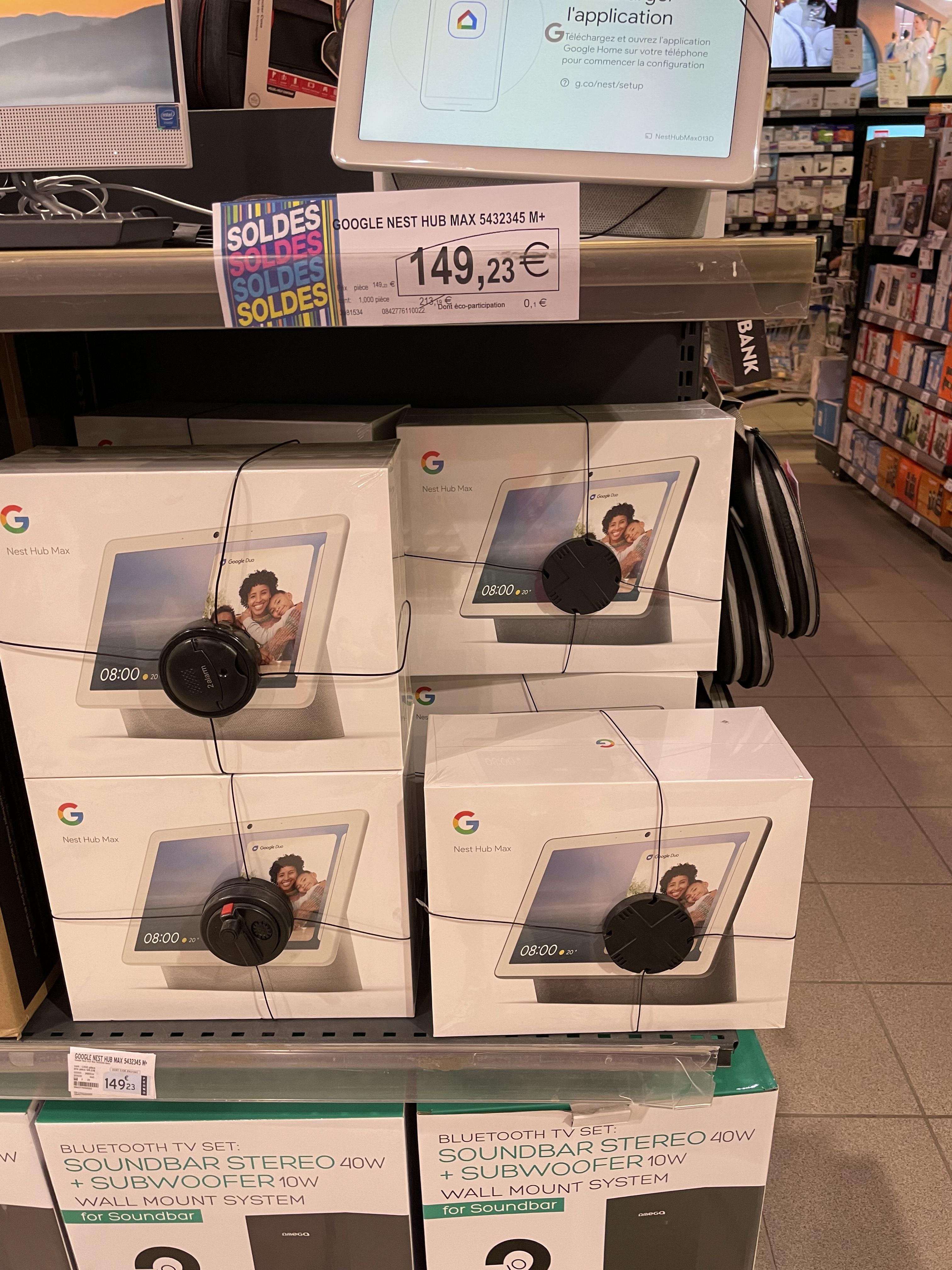 "Enceinte connectée avec écran 10"" Google Nest Hub Max (Colombe 38)"