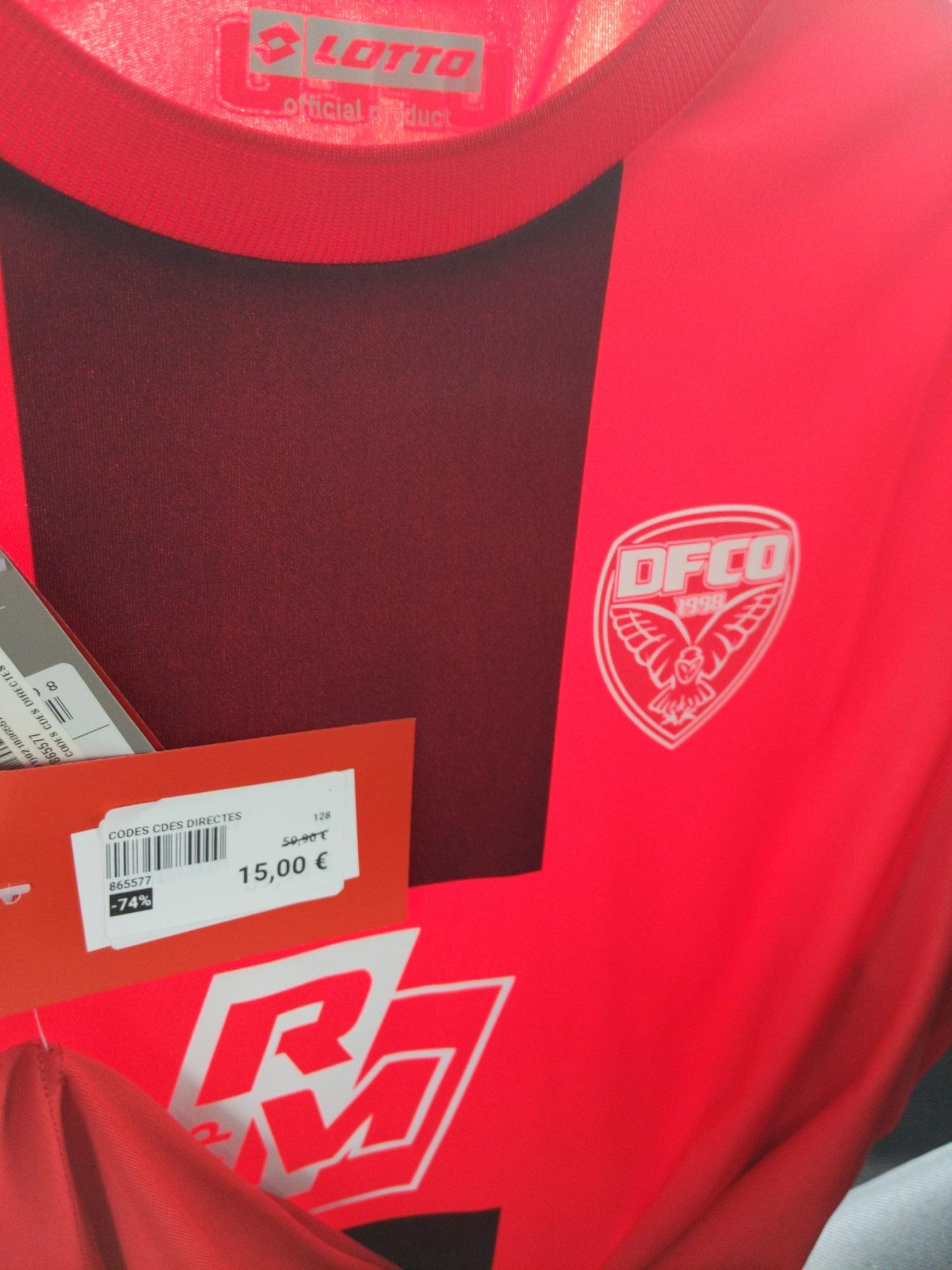 Maillot de football Dijon Football Côte-d'Or DFCO 2020-2021 - Quetigny (21)
