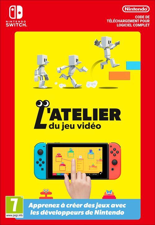 [Adhérents] L'Atelier du Jeu Vidéo sur Nintendo Switch (Dématérialisé) + 10€ sur le compte fidélité
