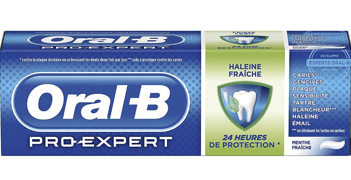 Dentifrice Oral-B Pro-Expert Haleine Fraîche (75 ml)