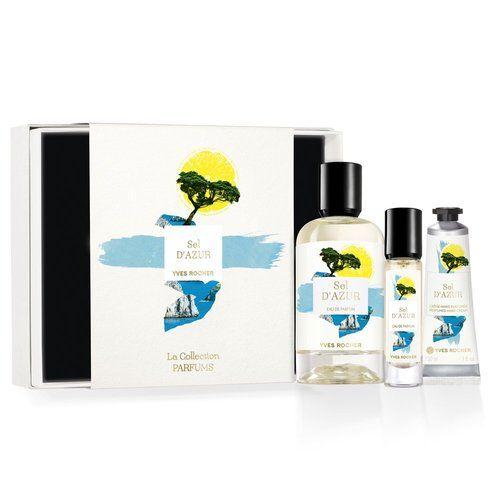 Coffret Parfum Yves Rocher Sel d'Azur - Eau de parfum 100ml + Vaporisateur 10ml + Crème mains 30ml