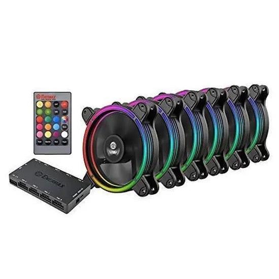 Pack de 6 Ventilateurs boitier PC Enermax T.B.RGB - 120 mm, RGB Sync Ready avec télécommande 3-en-1