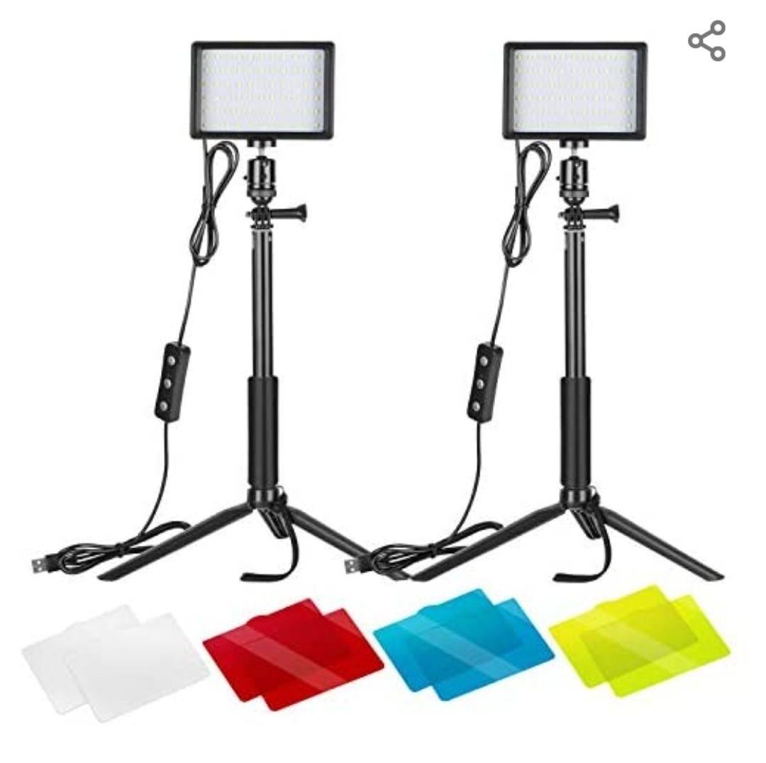 2 Projecteurs LED Neewer 10095736 - 5600k, filtres de couleurs (Vendeur tiers)