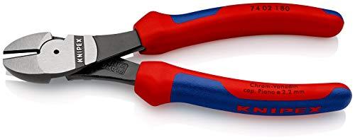 Pince coupante de côté à forte démultiplication Knipex 74 02 180 SB (180 mm)