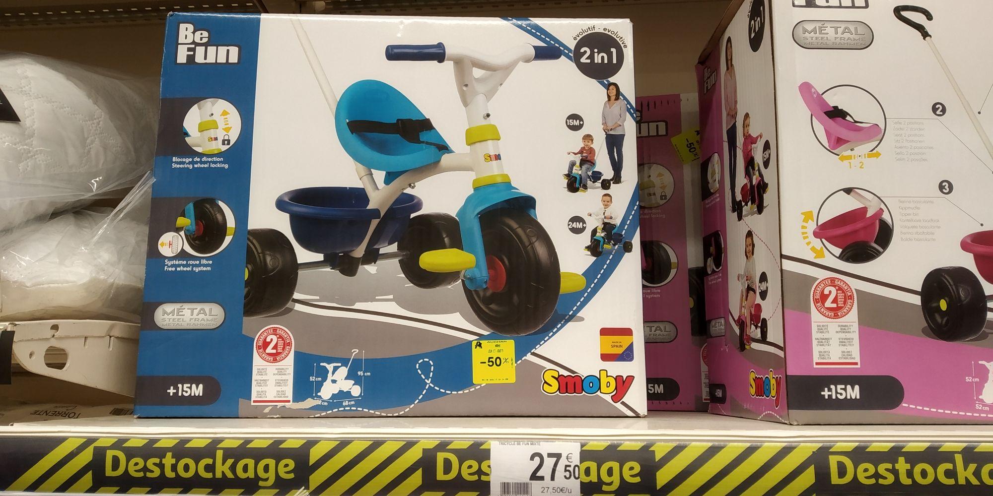 Tricycle évolutif Smoby Be Fun (Bleu ou Rose) - Arras (62)