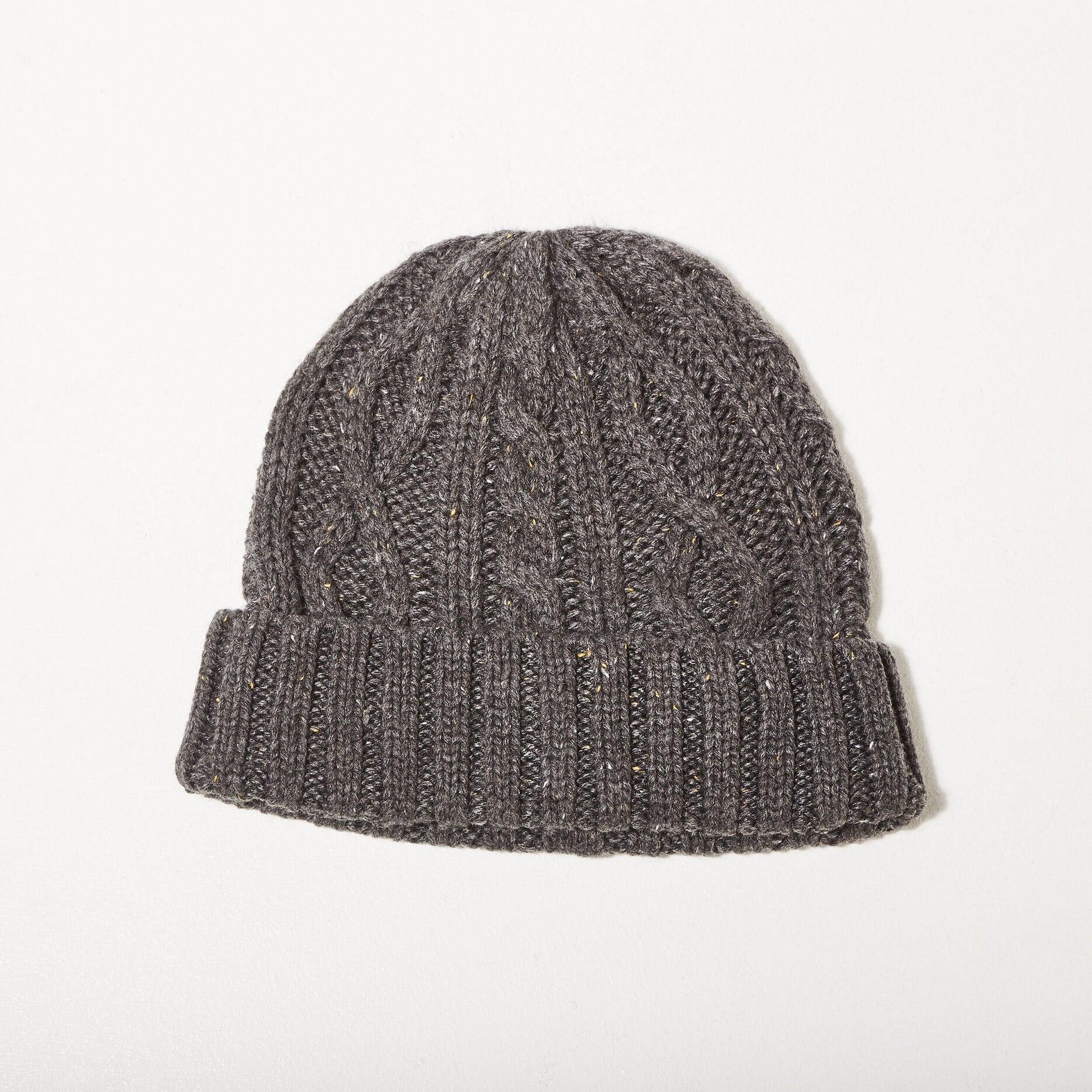 Bonnet tricoté - gris foncé