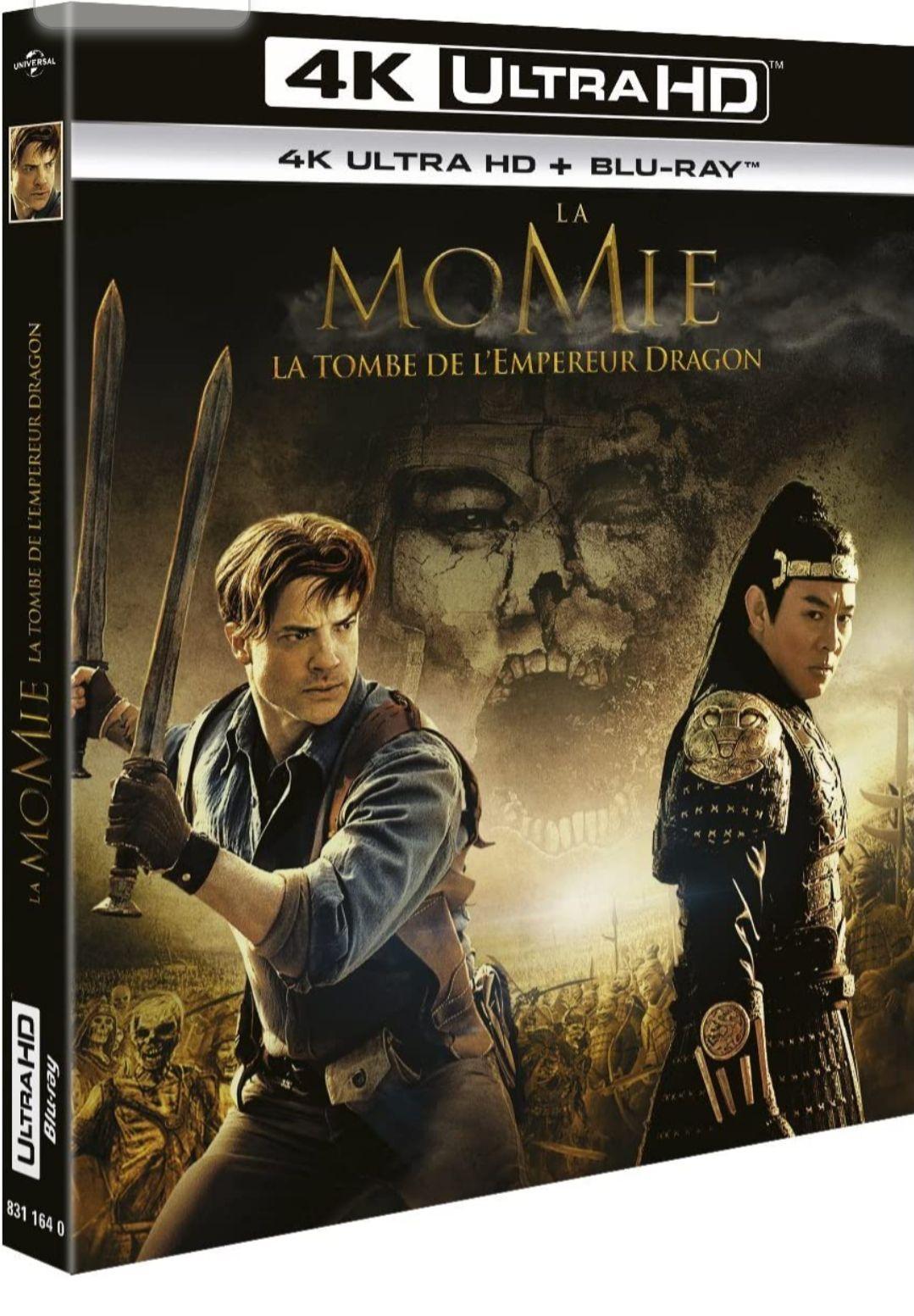 Sélection de Blu-ray 4K en promotion à 10€ - Ex : Blu-Ray 4K UHD + Blu-Ray La Momie : La Tombe de l'Empereur Dragon