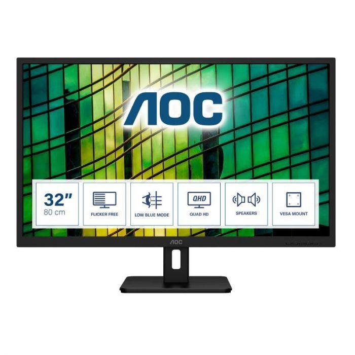 """Moniteur PC 32"""" AOC Q32E2N - QHD, 75 Hz, 4 ms"""