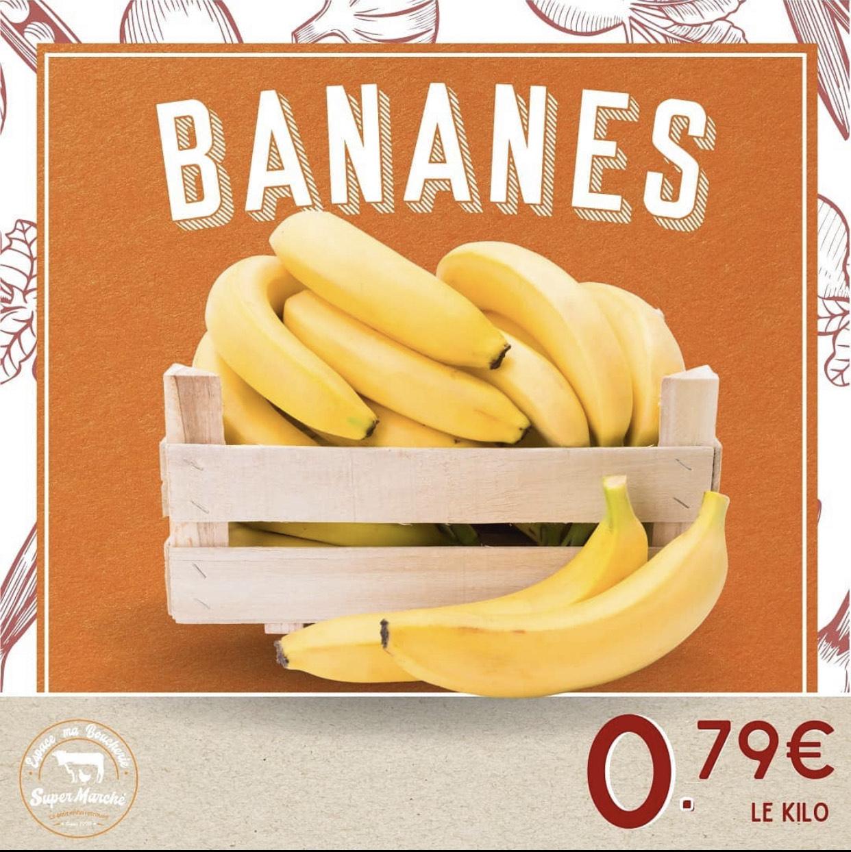 Bananes cavendish (le kilo) - Espace Ma Boucherie Sarcelles (95)