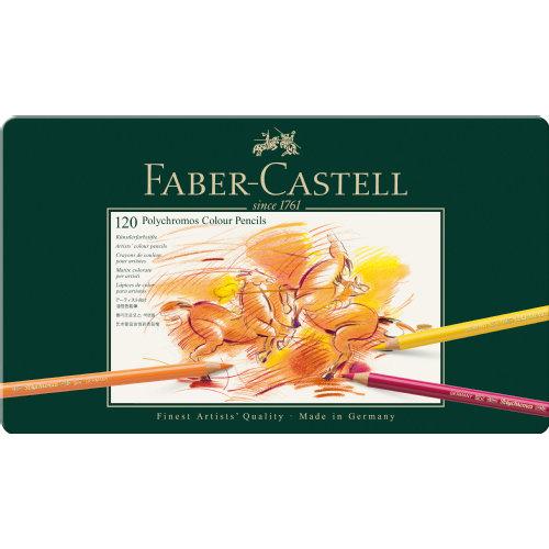 Boite en métal de 120 crayons de couleurs Faber Castell Polychromos