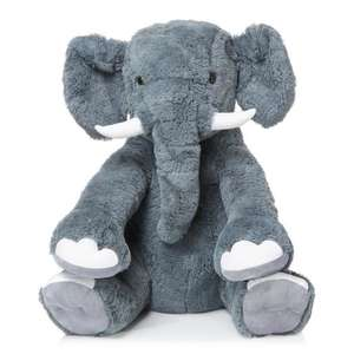 Peluche géante Eléphant - 78cm, Gris