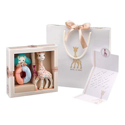 Coffret de naissance Vulli Sophie la Girafe Sophiesticated - taille S, avec hochet-billes