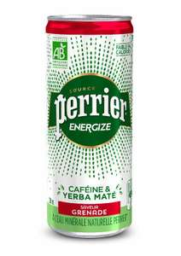 Canette de boisson Perrier Energize - 33cL, Saveur Grenade ou Mandarine (100% remboursé via Shopmium - Total, Total Access, BP et Shell)