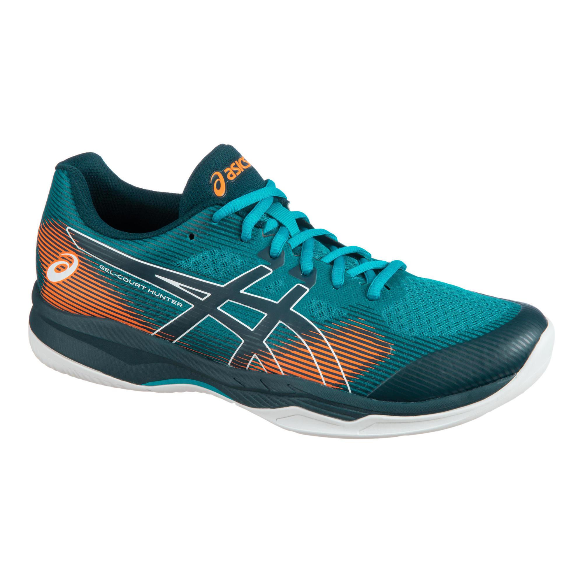 Chaussures de Badminton, Squash & Sports indoor Asics Gel-Court Hunter 2 - Bleu Sarcel, Tailles 41.5 à 44