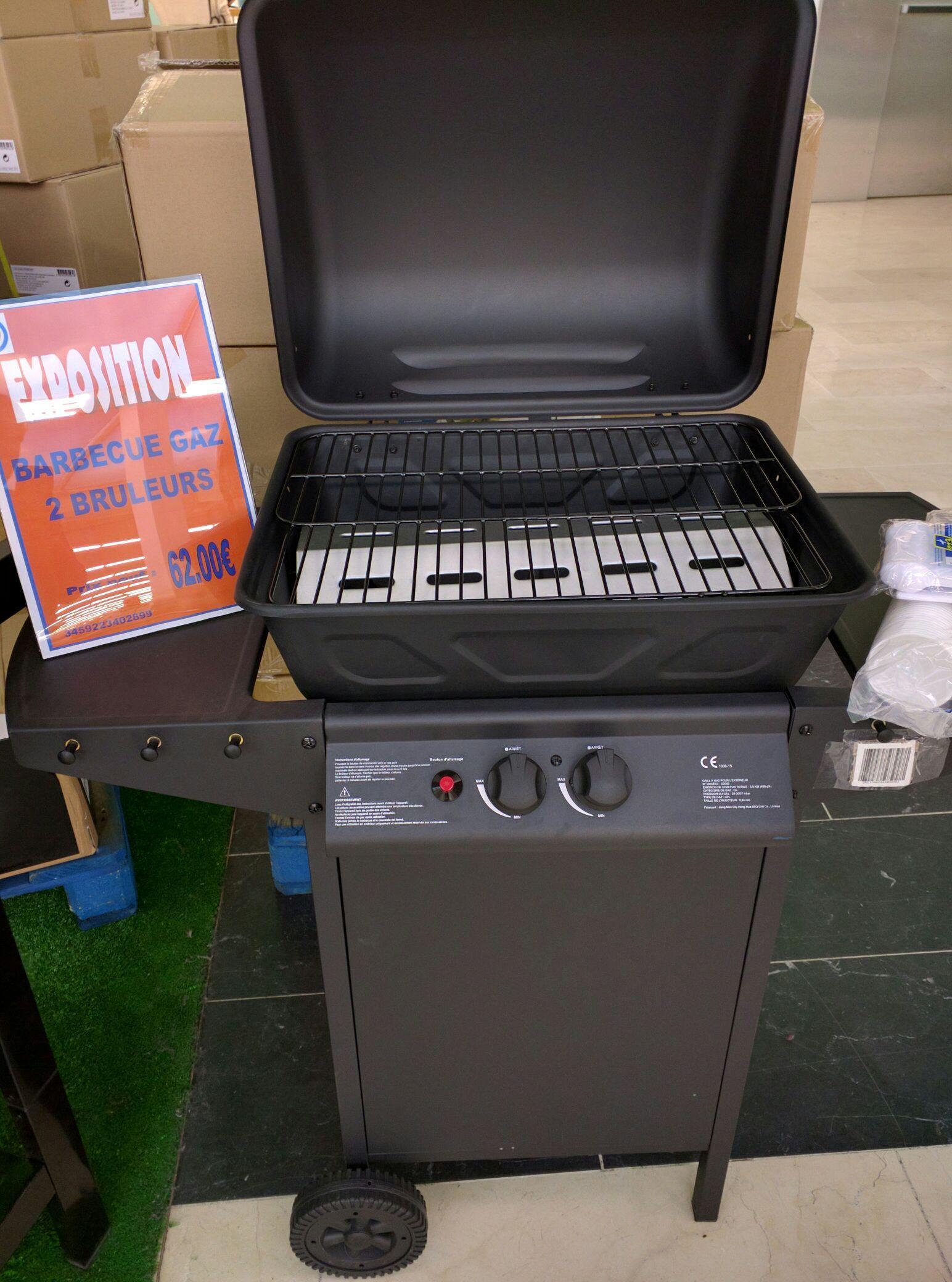 Barbecue à gaz - 2 Brûleurs