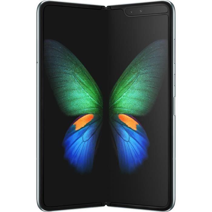 "Smartphone pliable 7.3"" Samsung Galaxy Fold - 12 Go RAM, 512 Go, Space Silver"