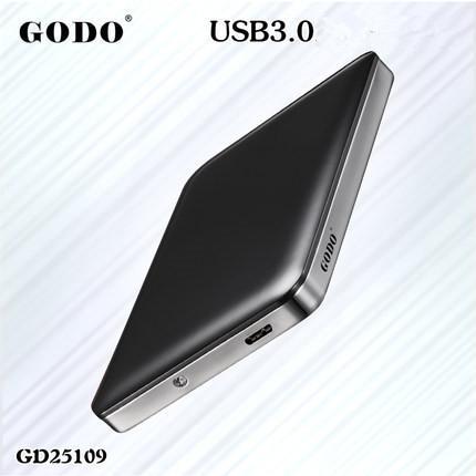 """Boîtier USB 3.0 UASP vers SATA I / II / III pour disque dur 2.5"""" Godo"""