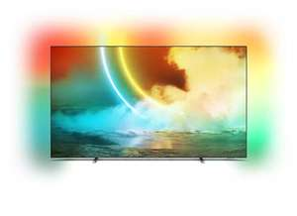 "TV 55"" Philips 55OLED705 - 4K UHD, OLED, Smart TV, Ambilight 3 côtés (frontaliers Belgique)"