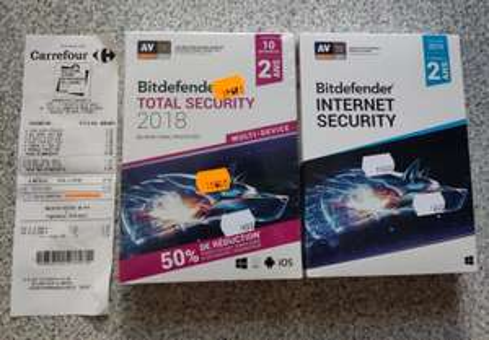 Antivirus Bitdefender Total security 10 appareils, 2 ans - Armentières 59
