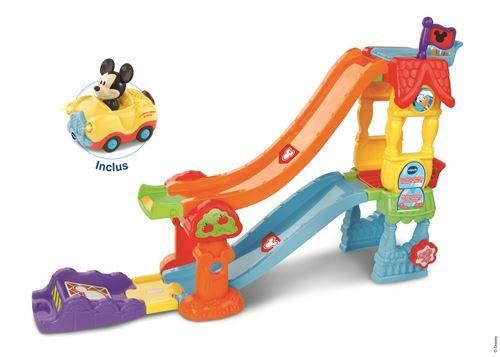 Sélection de jouets, jeux et peluches en promotion - Ex : La Maison-toboggan Mickey avec cabriolet