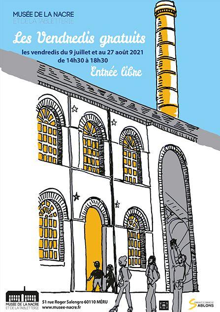 """Les """"Vendredis gratuits 2021"""" au musée de la nacre et de la tabletterie - Méru (60)"""