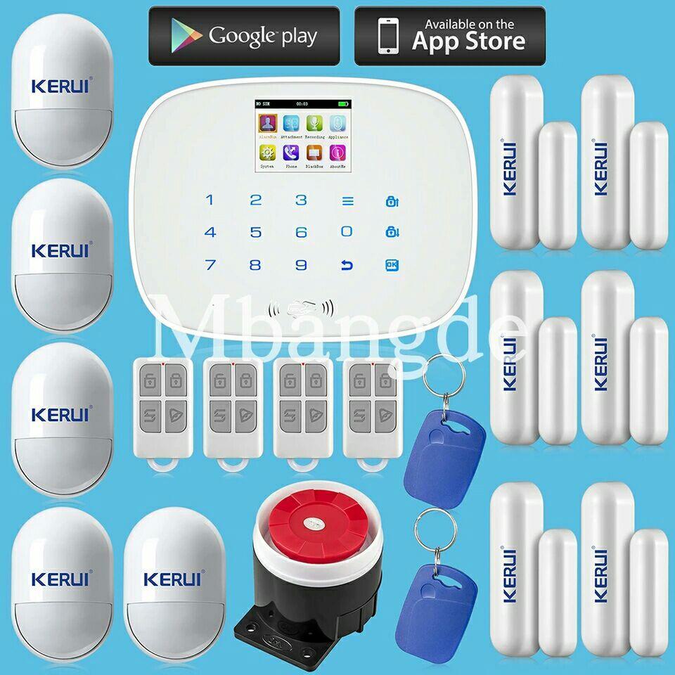 Kit Alarme Kerui + Capteurs compatibles animaux + Application Android et iOS