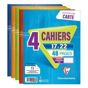 Lot de 4 cahiers Clairefontaine - 48 pages, 170 x 220 mm