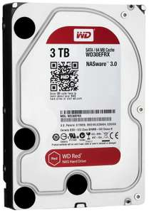Disque dur interne 3.5'' WD Red - Sata III, Cache 64Mo, 3 To, 5400 tpm