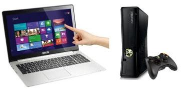"""PC Portable tactile 15.6"""" Asus Vivobook S550CA +,Console XBOX 360 4 Go"""