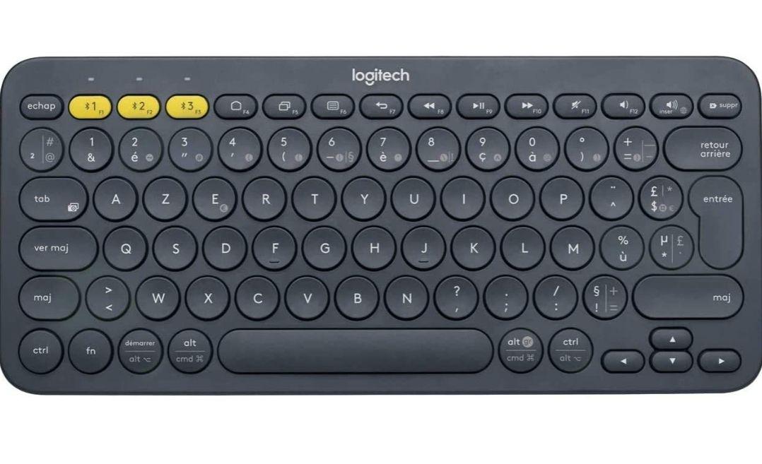 Clavier sans-fil Logitech K380 - Bluetooth, Noir, AZERTY - Occasion : comme neuf (Frais d'importation et de port inclus)