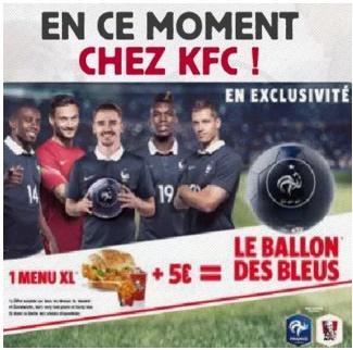 Pour l'achat d'1 menu XL, Le Ballon des Bleus Euro 2016