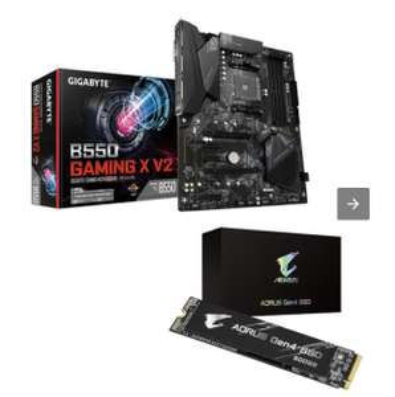 Carte Mère Gigabyte B550 Gaming X V2 + SSD Aorus Gen4 500 Go