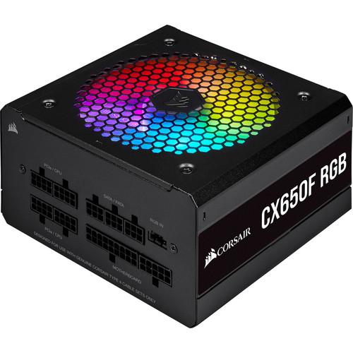 Alimentation PC modulaire Corsair CX650F RGB - 650W, 80+ Bronze, Noir