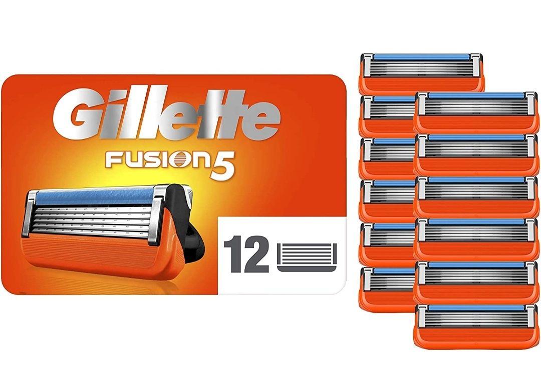 Pack de 12 lames pour rasoir Gillette Fusion 5
