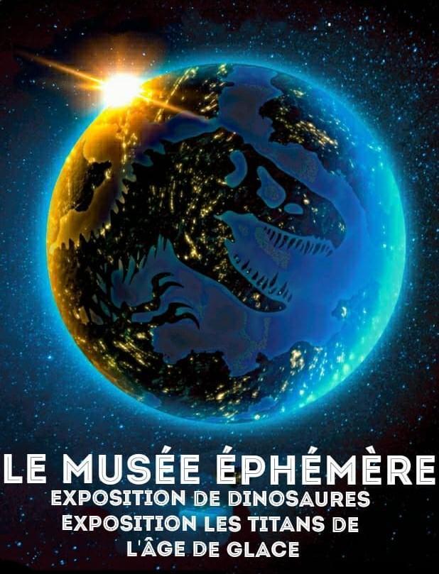 Billet pour le Musée Ephémère : Dinosaures