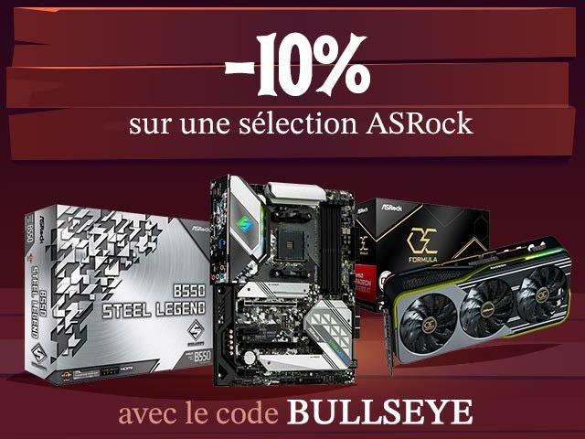 10% de remise sur une sélection de composants ASRock