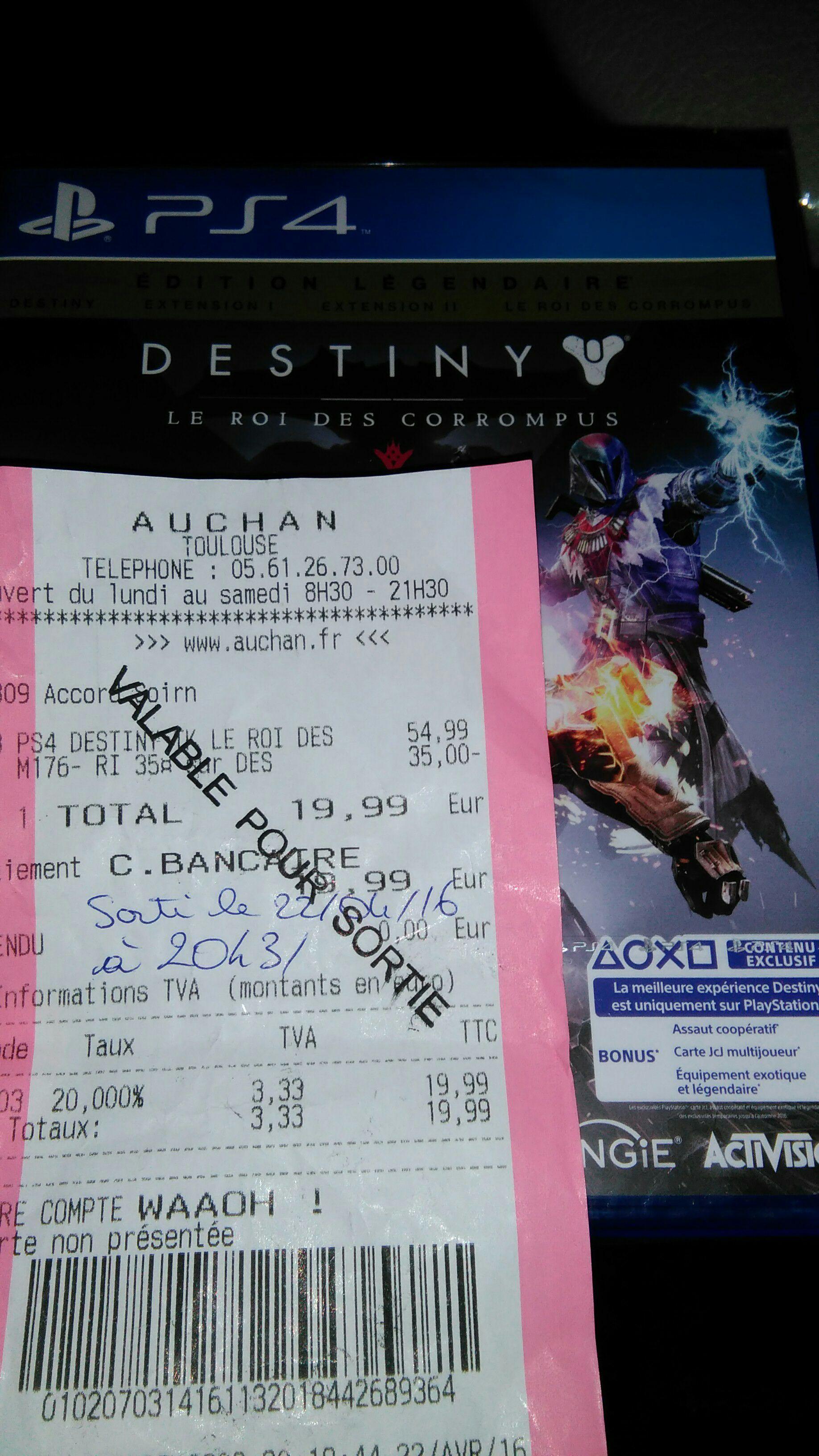 Destiny : Le roi des corrompus sur PS4