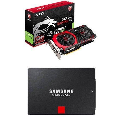 """Carte graphique Nvidia GeForce GTX 960 1024 MHz 4 Go PCI Express + SSD 2,5"""" Samsung 256 Go Série 850 PRO"""