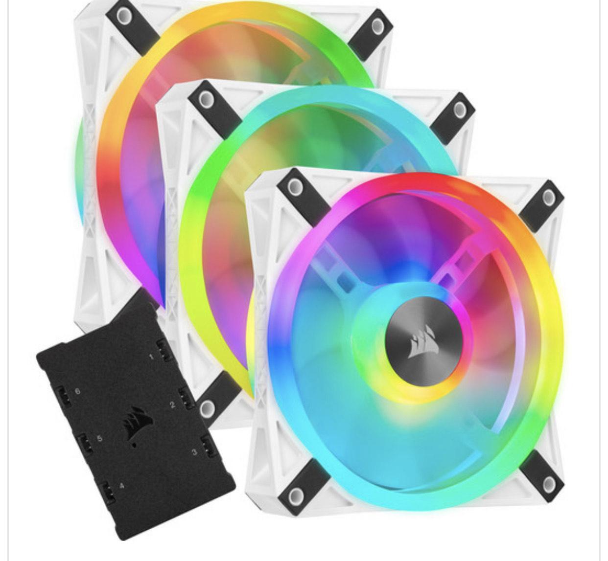 Sélection de produits en promotion via code - Ex : Pack de 3 ventilateurs PC Corsair QL120 RGB - 120 mm + Lightning Node Core