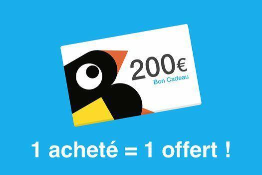 Réduction sur les bons d'achat - Ex : Bon de 200€ acheté = Bon de 100€ offert