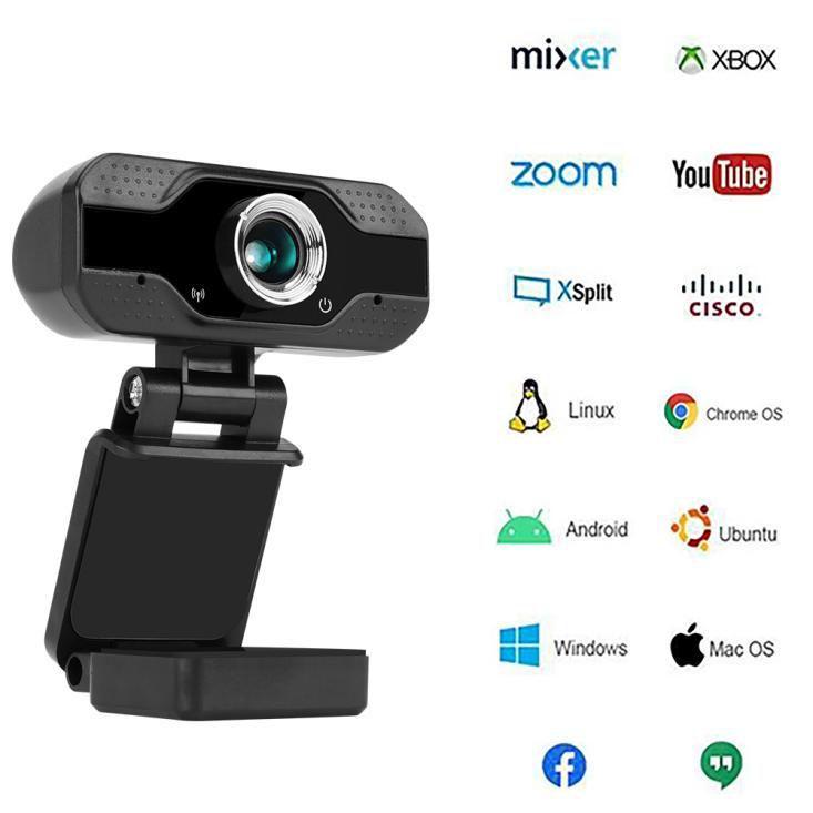 Webcam USB - Full HD 1080p, Noir (vendeur tiers)