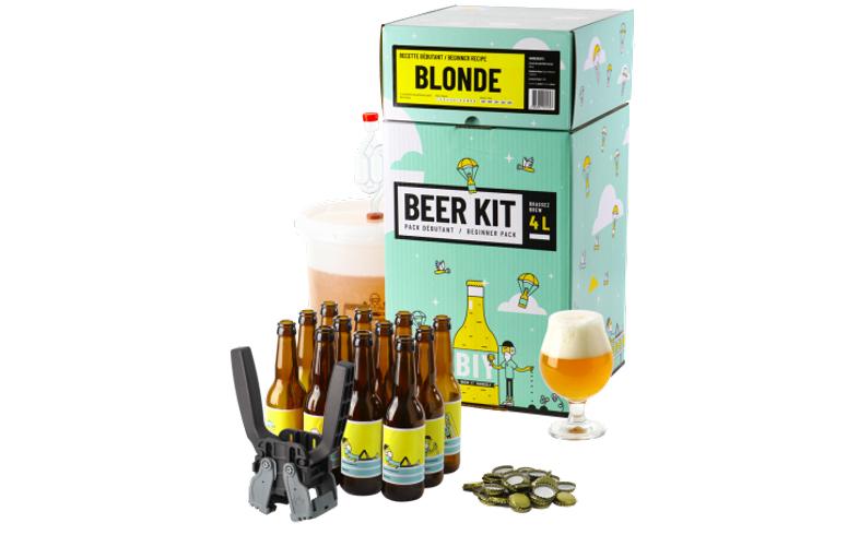 Pack Débutant Complet Bière Blonde (Kit de brassage + Kit d'embouteillage)