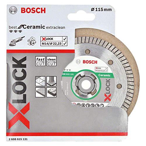 Disque diamant pour carrelage Bosch 2608615131 - X-LOCK, Extra Clean Turbo, Ø 115 mm