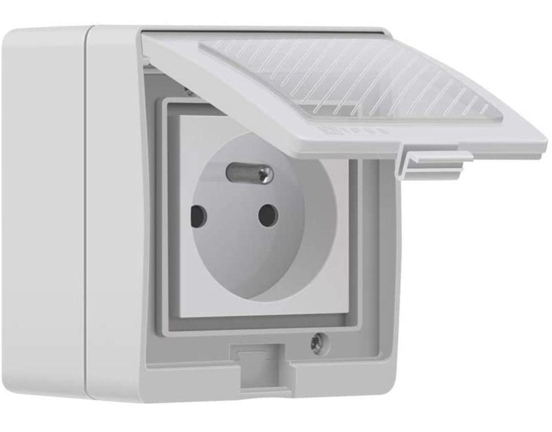 Prise connectée Wi-Fi Sonoff S55 TPE-FR - 16A, Étanche IP55, Compatible avec Alexa/Google Home/IFTTT (vendeur tiers)