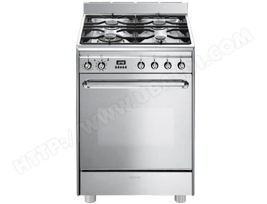Cuisinière gaz Smeg CP60X9 - Four électrique 70l avec Pyrolyse