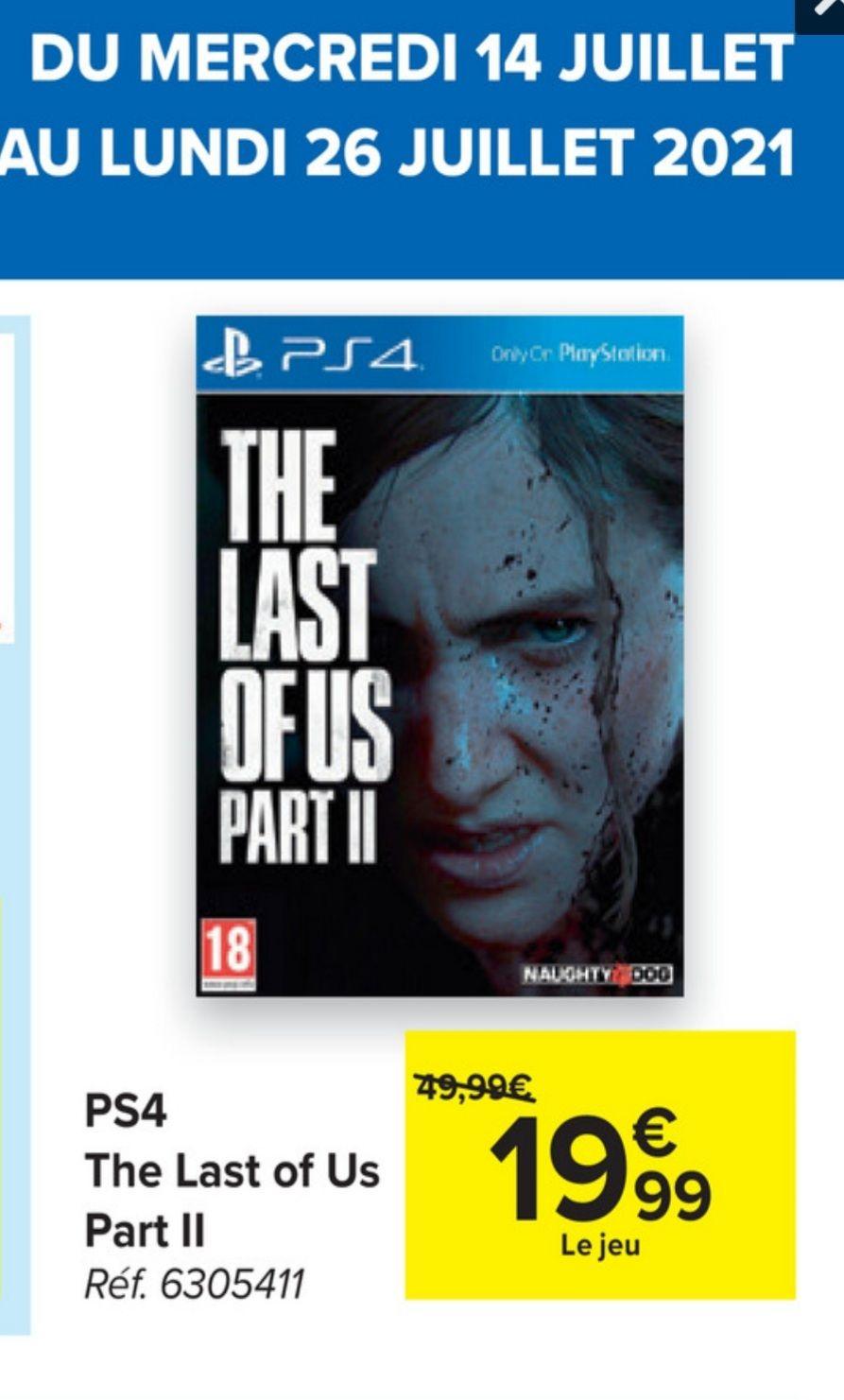 Jeu The last of us part 2 sur PS4 (Frontaliers Belgique)