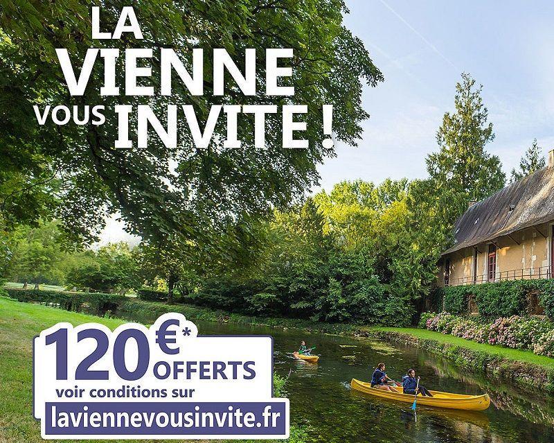 120€ remboursés sur un Séjour de 120€ minimum sur La Vienne (Sous conditions)