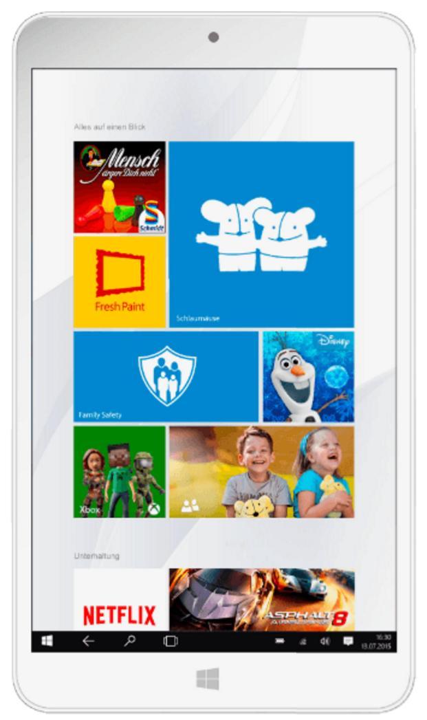"""Tablette 8"""" Odys Winkid  - 1280x800, Intel Z3735, 1GO, 32GO, 4000mAh, Windows 10"""